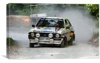 MkII Ford Escort Rallying, Canvas Print