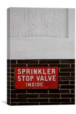 Sprinkler Stop Valve, Canvas Print