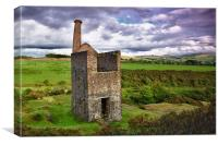 Wheal Betsy Engine House, Canvas Print