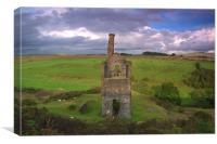 The Wheal Betsy engine house, Canvas Print