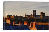 Durham roof tops, Canvas Print