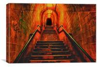 Smugglers Tunnel Shaldon Hdr, Canvas Print