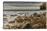 Cliff Fishermen, Canvas Print