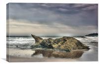 Man Sands Rock, Canvas Print
