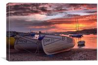 Teignmouth sunset 2, Canvas Print