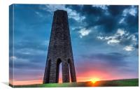 Daymark sunset, Canvas Print