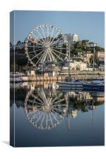 The English Riviera Wheel, Canvas Print