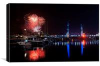 Torbay Fireworks, Canvas Print