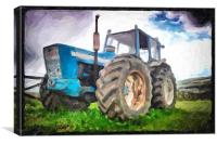 tractor in oil, Canvas Print
