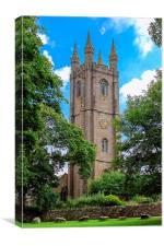 Widecombe Church, Canvas Print