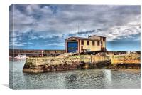 St Abbs lifeboat station, Canvas Print