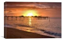 Teignmouth sunrise 2                              , Canvas Print