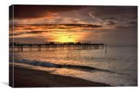 Teignmouth sunrise 4                            , Canvas Print