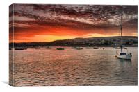 Teignmouth sunset 1                               , Canvas Print