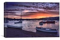 Teignmouth sunset 3                               , Canvas Print