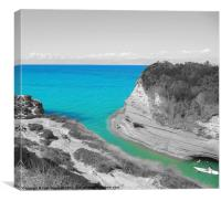 Love Tunnel Cave Corfu, Canvas Print