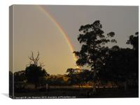 Glorious Farm Rainbow, Canvas Print