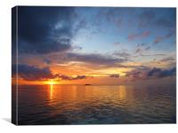 Thailand Sea Sunset, Canvas Print