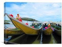 Thai Long Tail Boats, Canvas Print