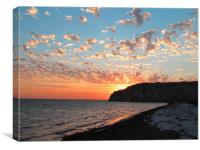 Eagle Bluff sunset 3, Canvas Print