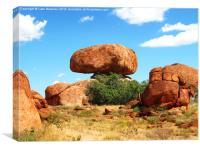 Balancing Boulder, Canvas Print