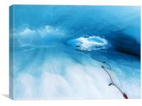 Fox Glacier Tunnel, Canvas Print