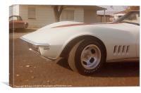 1968 Corvette Dreamy White, Canvas Print