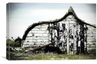 Northumbrian Boat Shed, Canvas Print