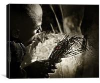 Masai Fire Starter, Canvas Print