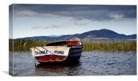 Boat at Lake Titicaca, Canvas Print
