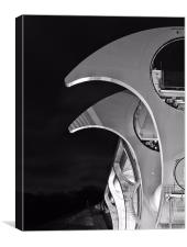 Black & White Falkirk Wheel., Canvas Print