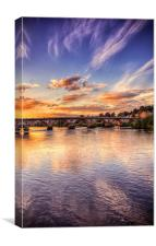 Sunset Over The River Tay, Canvas Print