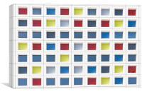 Mondrian Grid Facade, Canvas Print