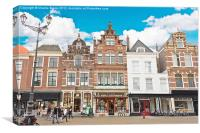 Delft Houses Architecture, Canvas Print