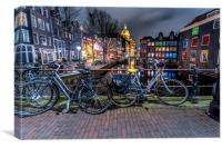 Amsterdam Red Light District at night, Canvas Print