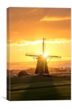 Sunrise windmill, Canvas Print