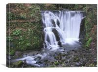Alva Glen Waterfall, Canvas Print