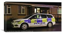 Tayside Police Car, Canvas Print