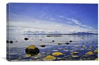 Ardrossan Beach Scotland, Canvas Print