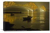 Forth Rail Bridge at Night, Canvas Print