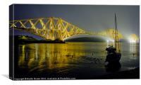Forth Bridge at Night, Canvas Print