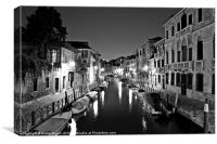 Night Time in Venice, Canvas Print