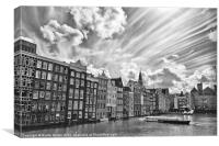 Amsterdam Canal Boat, Canvas Print
