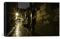 Glasgow Alley at Night, Canvas Print