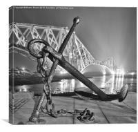 Anchor at Forth Rail Bridge, Canvas Print