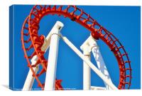 The Millenium Rollercoaster Ingoldmells, Canvas Print