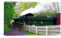 Steam Locomotive At Shackerstone, Canvas Print