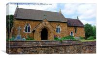 All Saints Church Great Bourton, Canvas Print