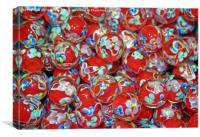 Red Glass Marbles, Canvas Print