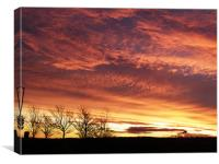 Sunrise over Falkirk, Canvas Print